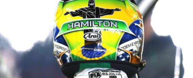 Os capacetes do GP Brasil de Fórmula 1
