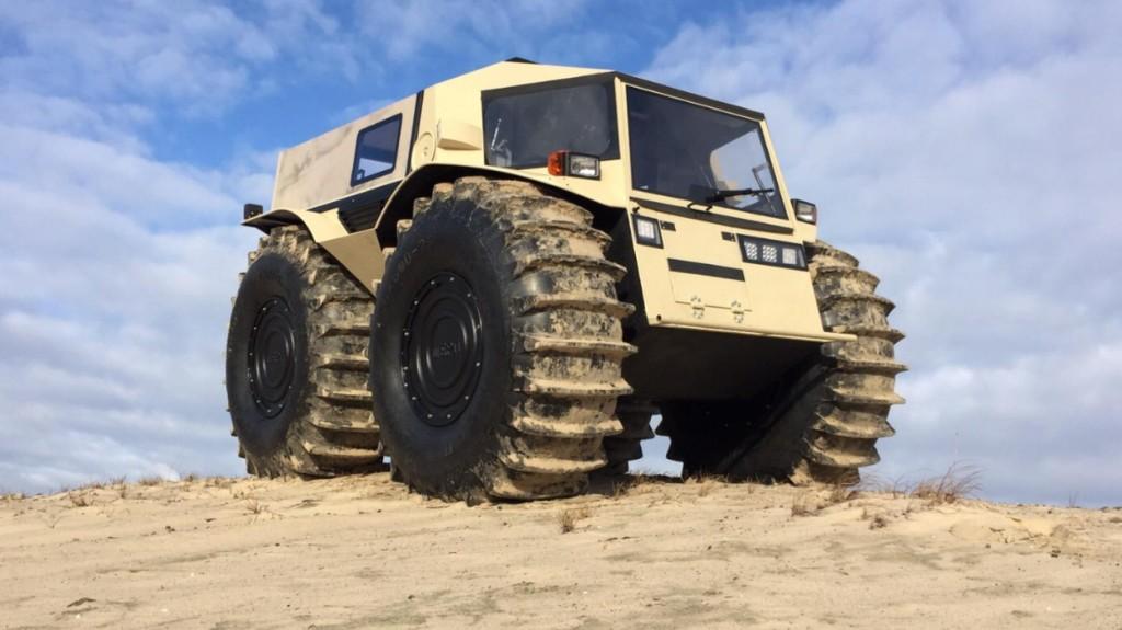 Empresa russa desenvolve veículo que anda sobre água