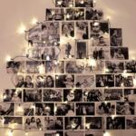 Use fotos de seus melhores momentos para montar sua árvore de natal.