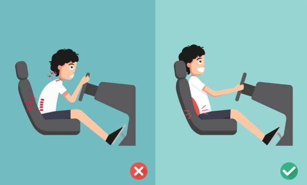 Má postura ao dirigir pode causar dores e comprometer segurança